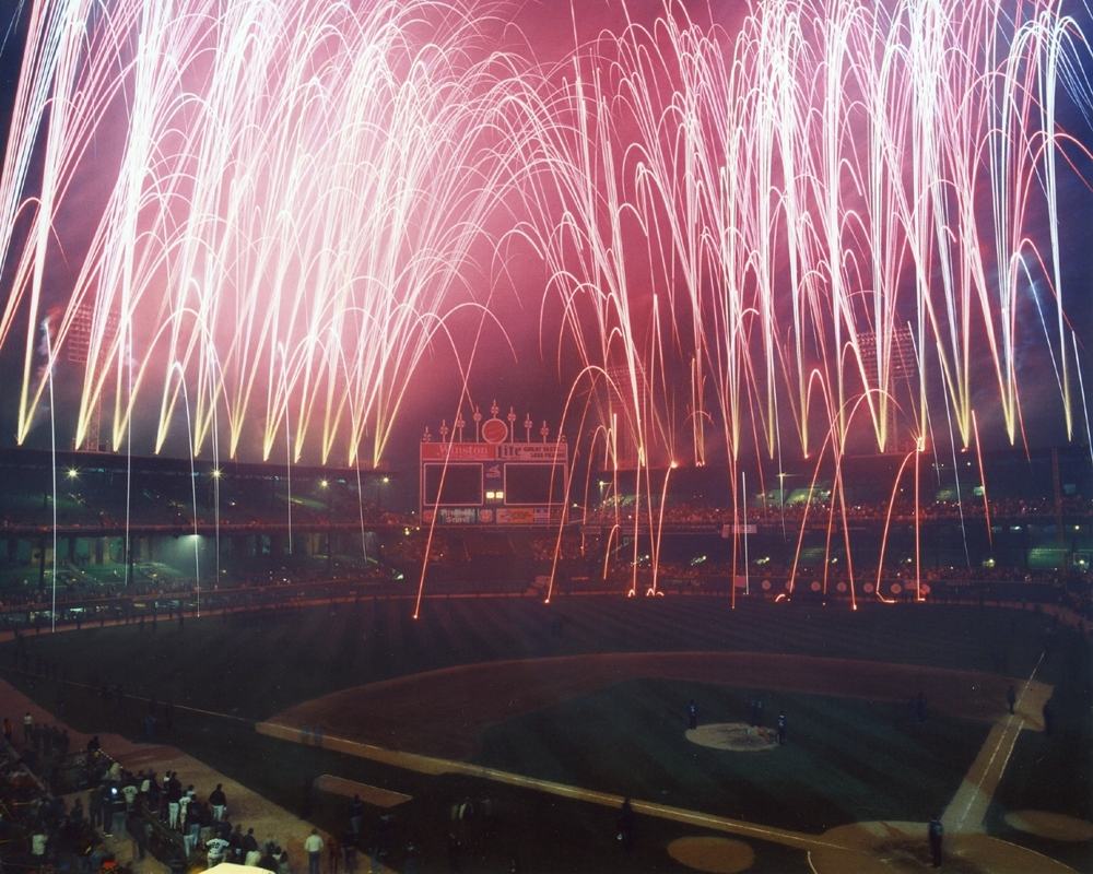 Last Fireworks At Old Comiskey Park Chicago White Sox