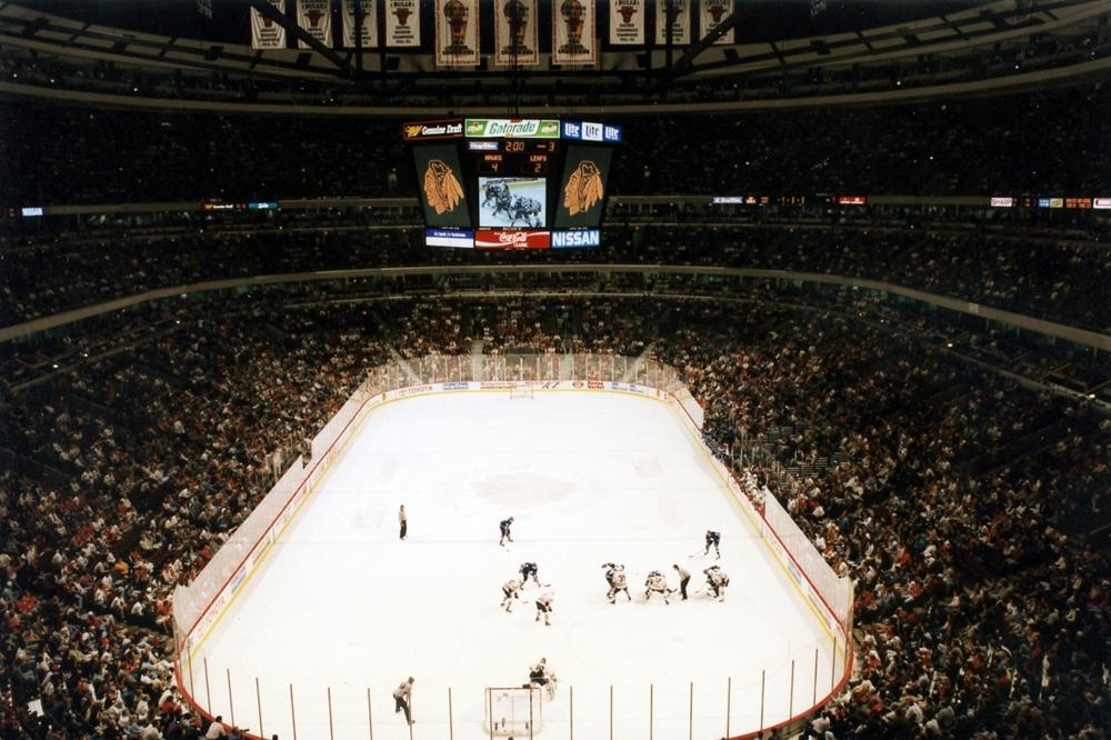 Chicago Stadium View From Inside Chicago Blackhawks