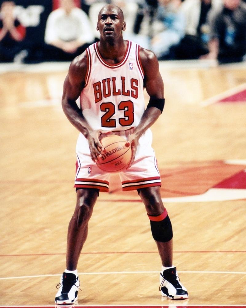 Michael Jordan At Free Throw Line Chicago Bulls Framed Print
