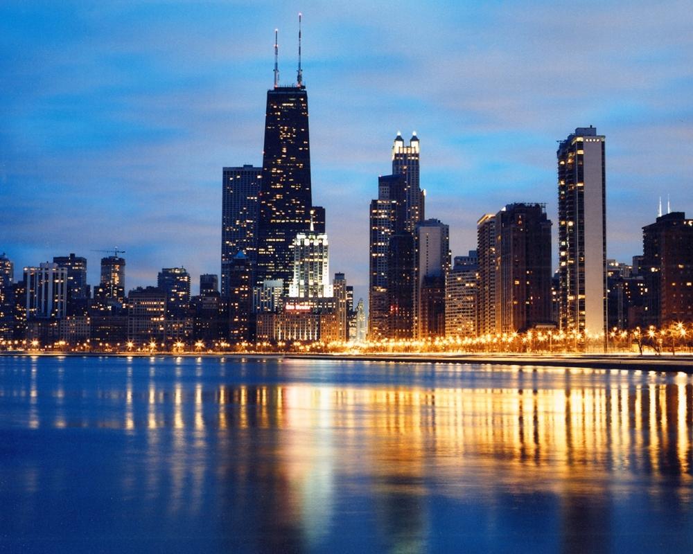 John Hancock Building From North Avenue | Chicago Skyline Framed Print
