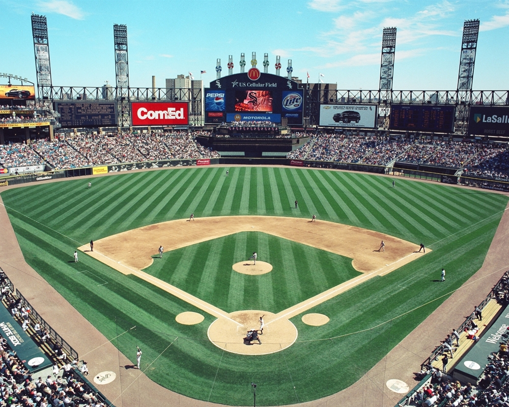 Us Cellular Field View Behind Home Plate Chicago White
