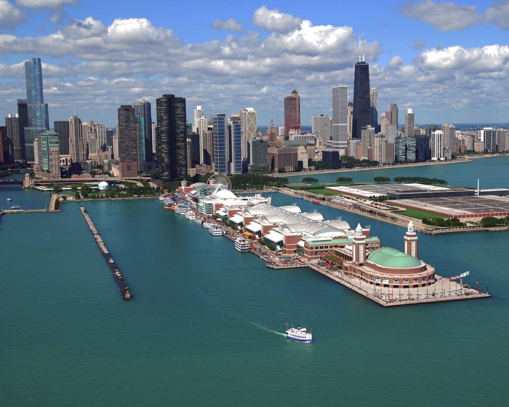 Navy Pier Amp Streeterville Area Chicago Lakefront Framed