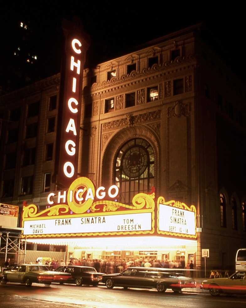 Frank Sinatra At The Chicago Theatre   Chicago Buildings