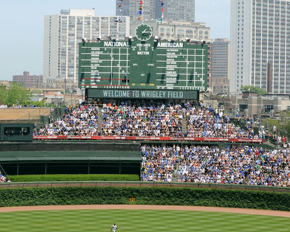 Wrigley Bleachers Welcome To Wrigley Field Chicago