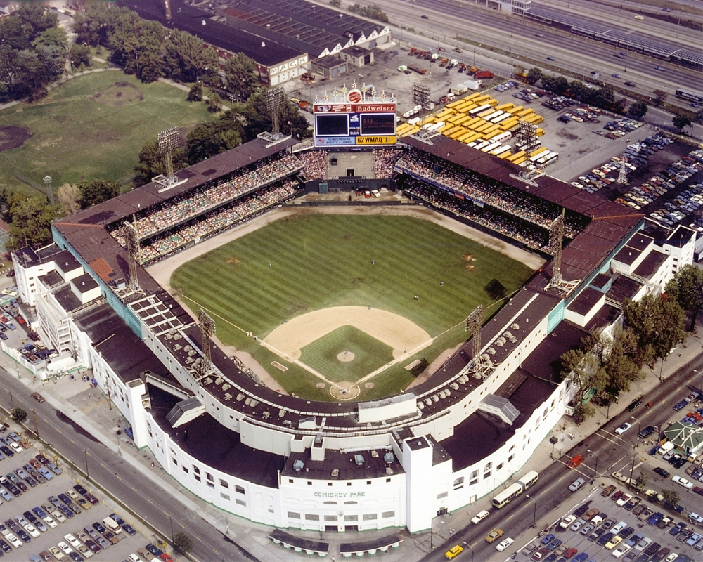 Comiskey Park Aerial View Chicago White Sox Framed Print
