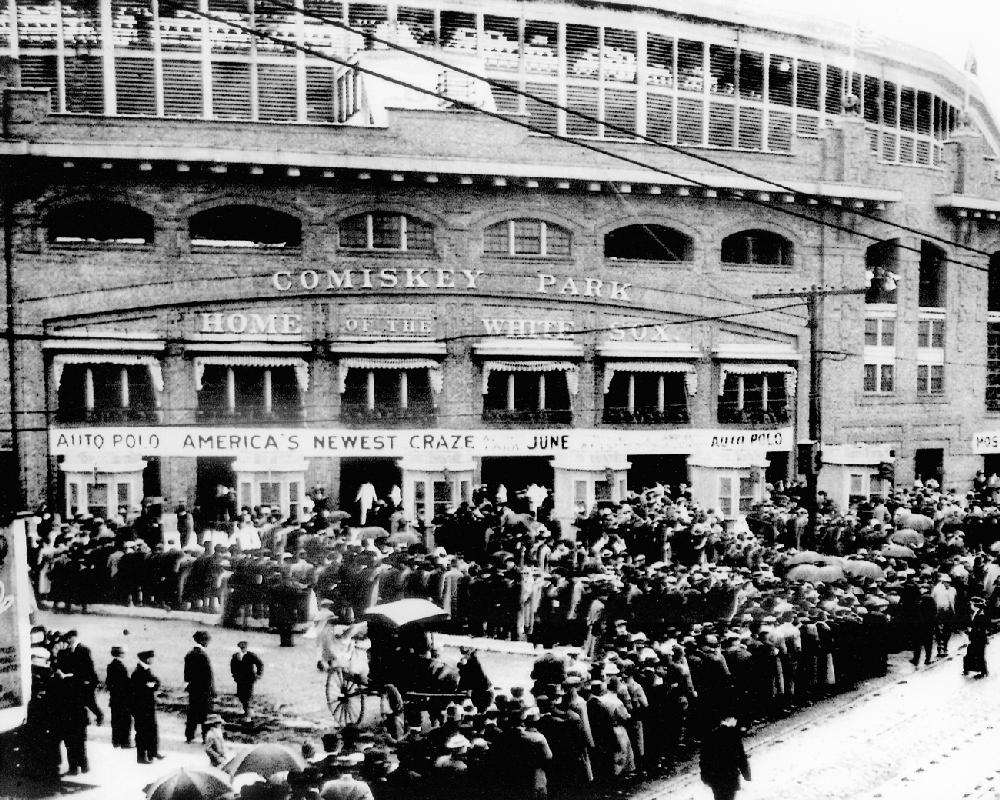 Vintage Comiskey Park Historical Chicago White Sox Black