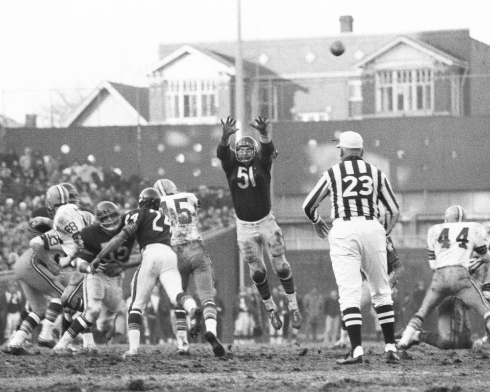 Vintage Chicago Bears Black Amp White Dick Butkus Defense