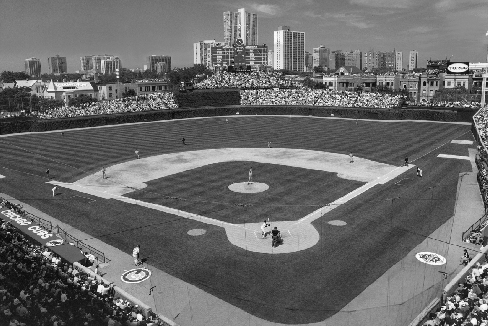 Black And White Wrigley Field - Inside View Of Ballpark | Chicago ...