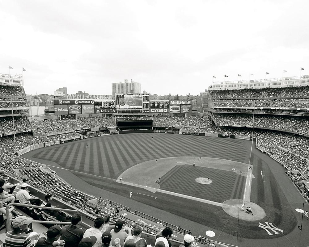 New Yankee Stadium Black Amp White Mlb Stadiums Framed Print
