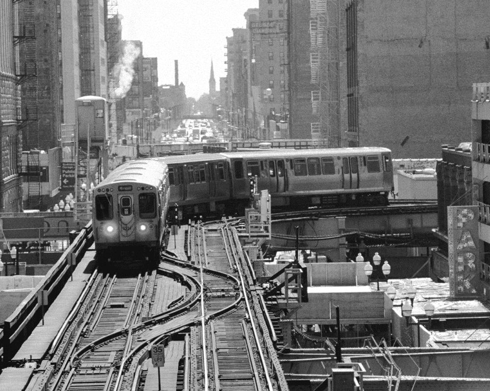 Cta Train The L Train Chicago Chicago Black Amp White