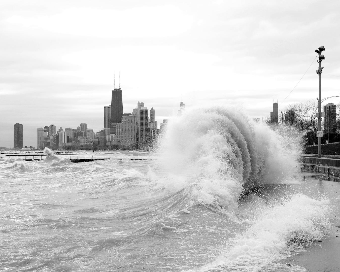 Hurricane Sandy Effect - Chicago Lakefront High Wave   Chicago Black ...