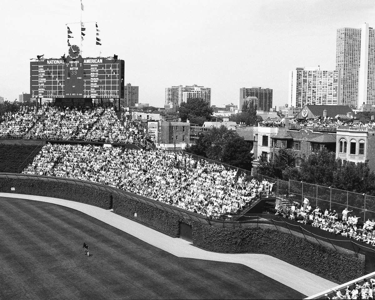 Old Wrigley Field Bleacher Seats Picture