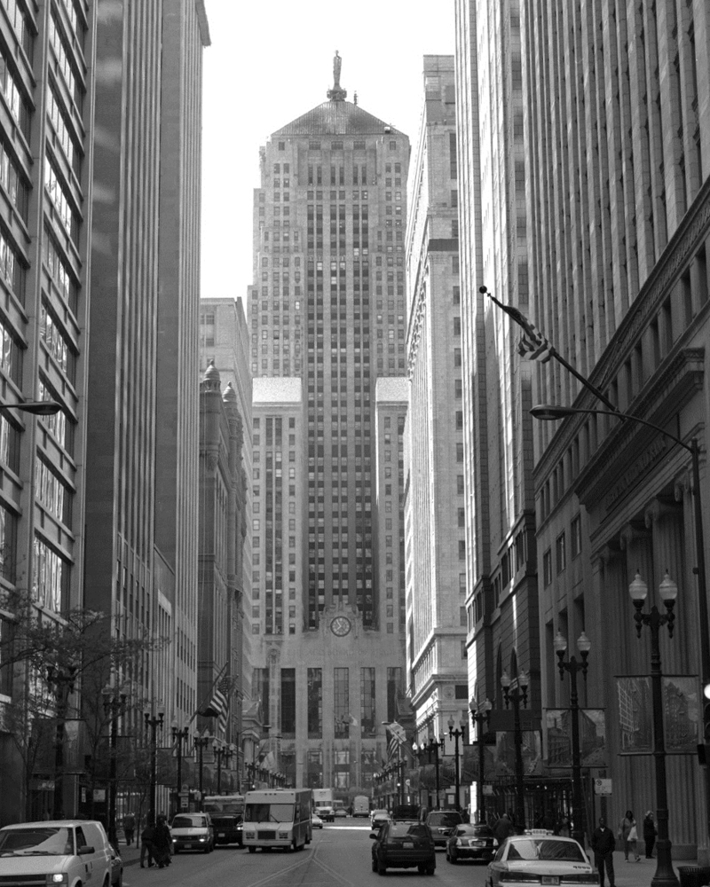 Chicago Board Of Trade Chicago Black Amp White Framed Print