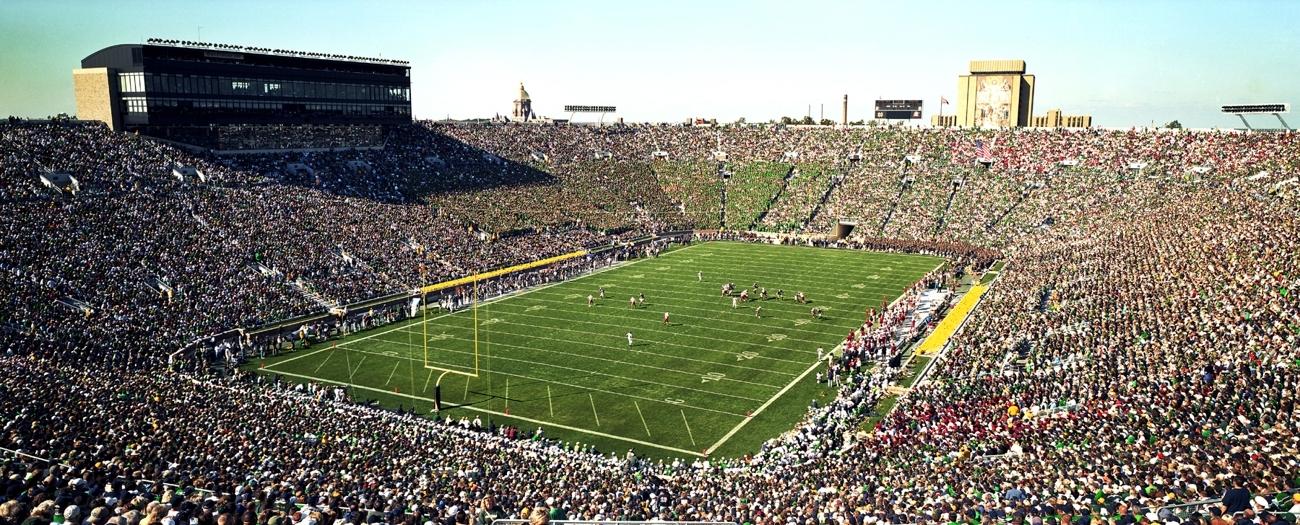 Notre Dame Football Stadium Panorama Big 10 Football