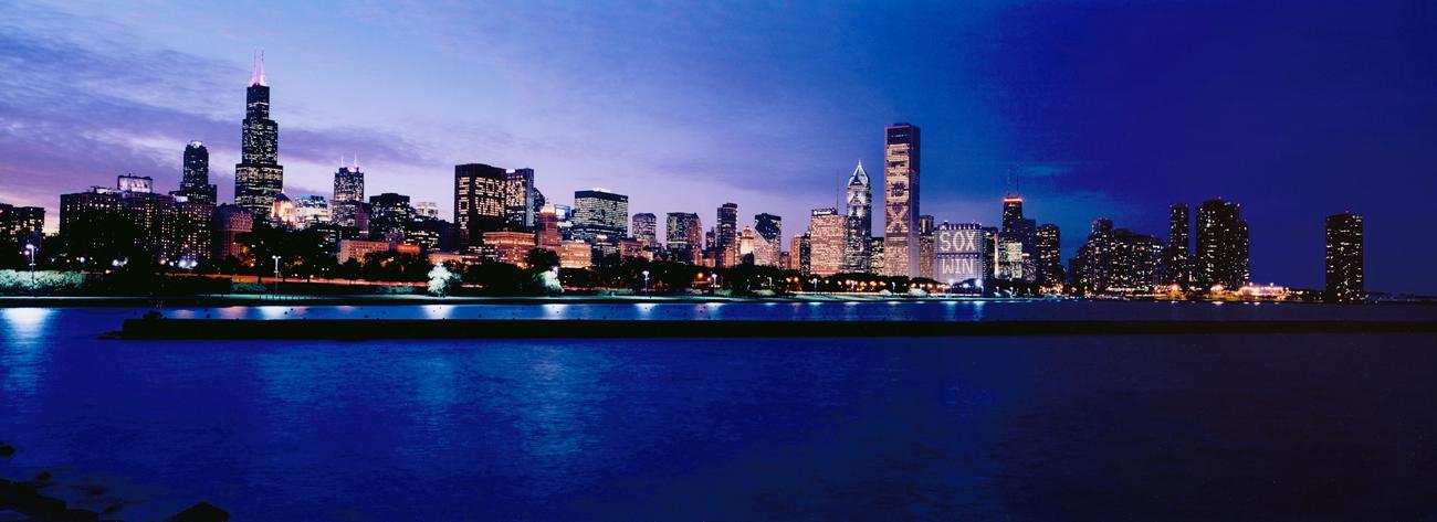 2005 World Series Chicago White Sox Win Skyline Panorama