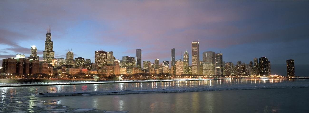 2010 Chicago Skyline In Color Chicago Skyline Framed Print