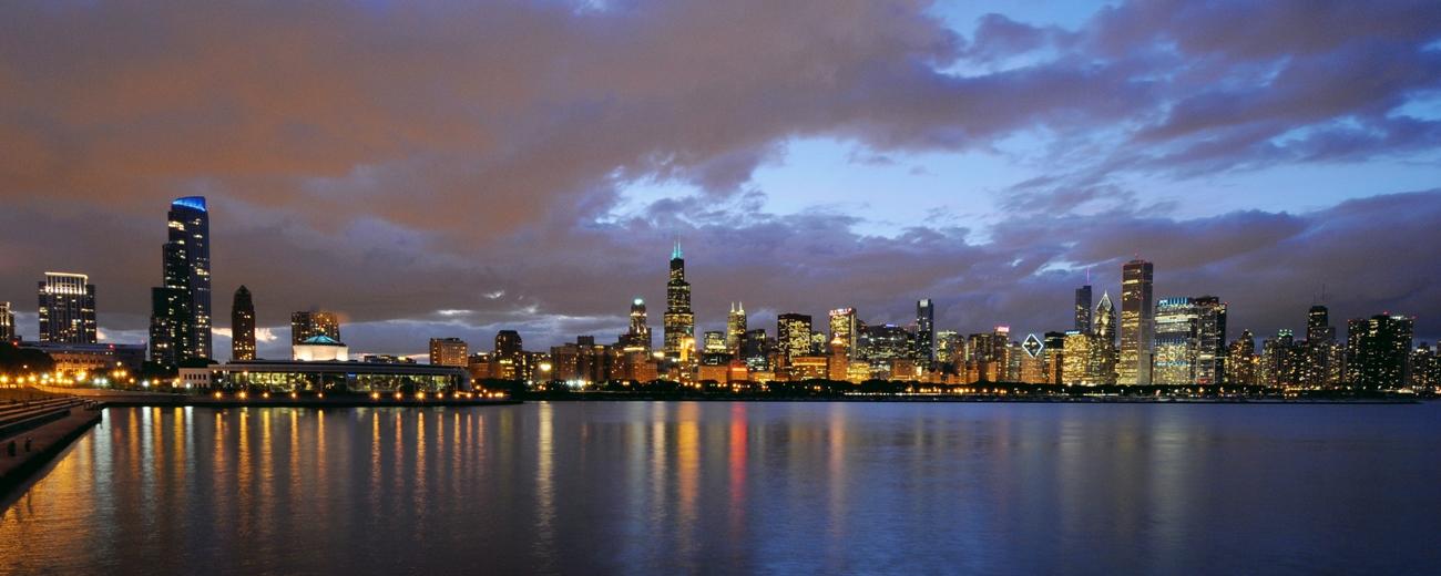 2011 Chicago Panorama View From Adler Planetarium