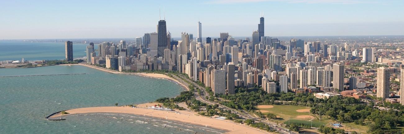North Avenue Beach Chicago Lakefront Chicago Skyline
