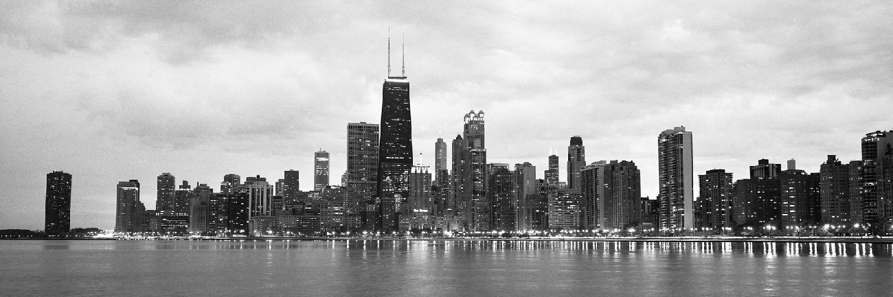 North Avenue Beach - Black & White Chicago Skyline | Chicago Skyline ...