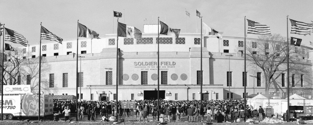 Last Game At Old Soldier Field Black Amp White Chicago