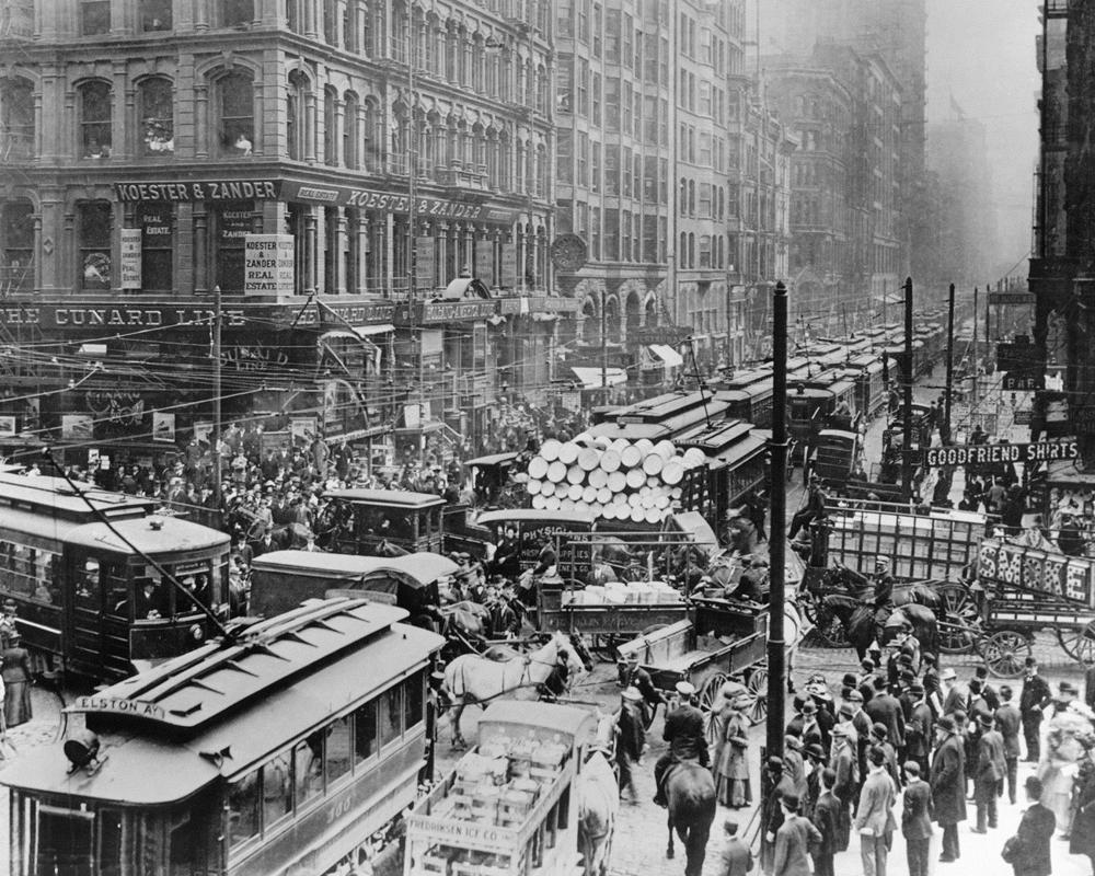 Historic Chicago Traffic Jam On Randolph Street In 1909