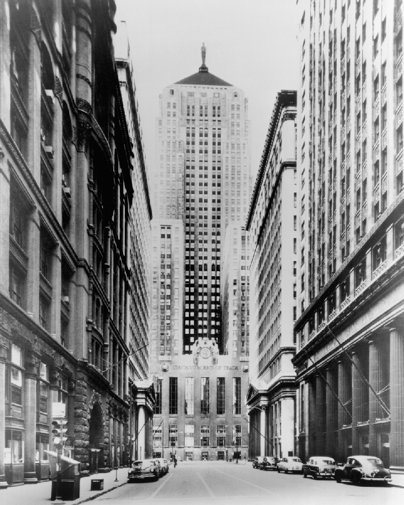 Vintage Chicago Board Of Trade 60 Years Ago Chicago