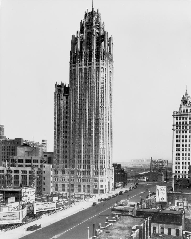 Vintage Chicago Tribune Tower Chicago History Framed Print