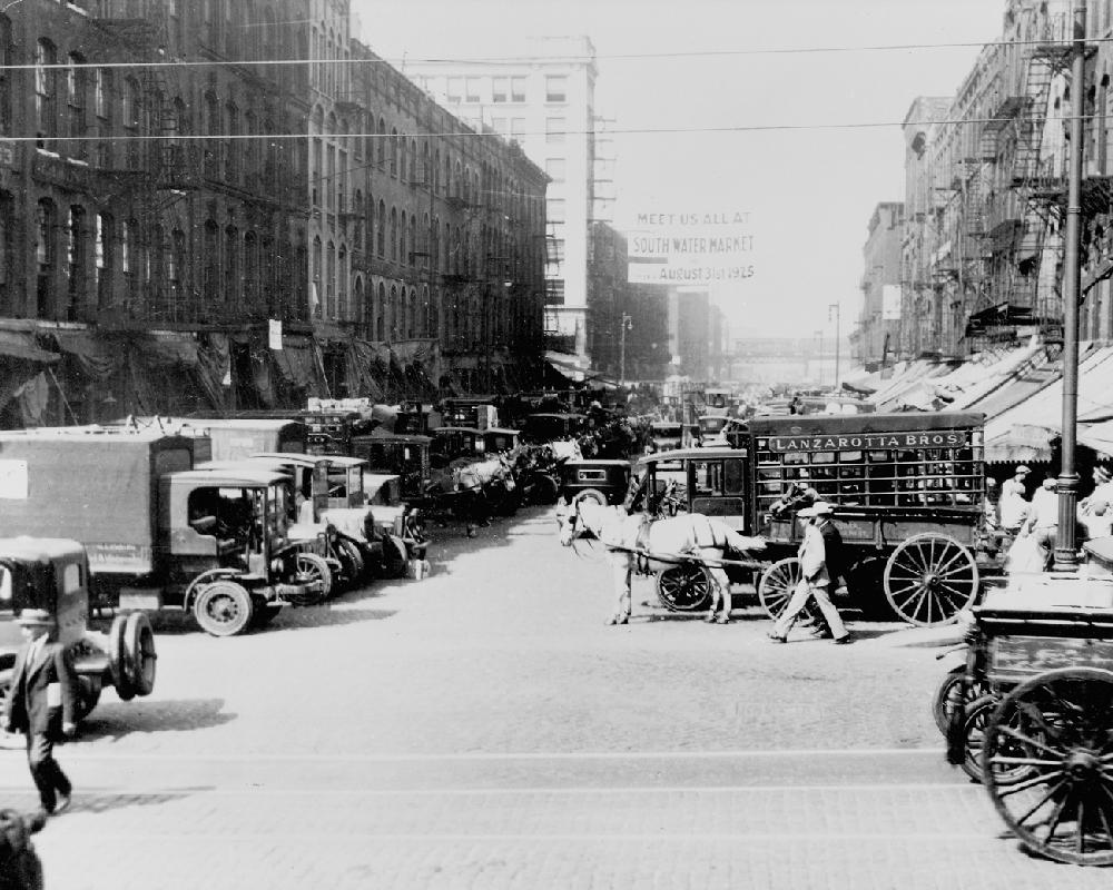 Fulton Street Market Vintage Chicago Chicago History