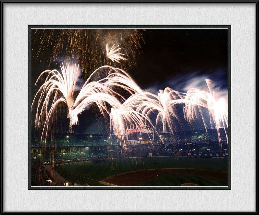 framed-print-of-fireworks-at-comiskey-park