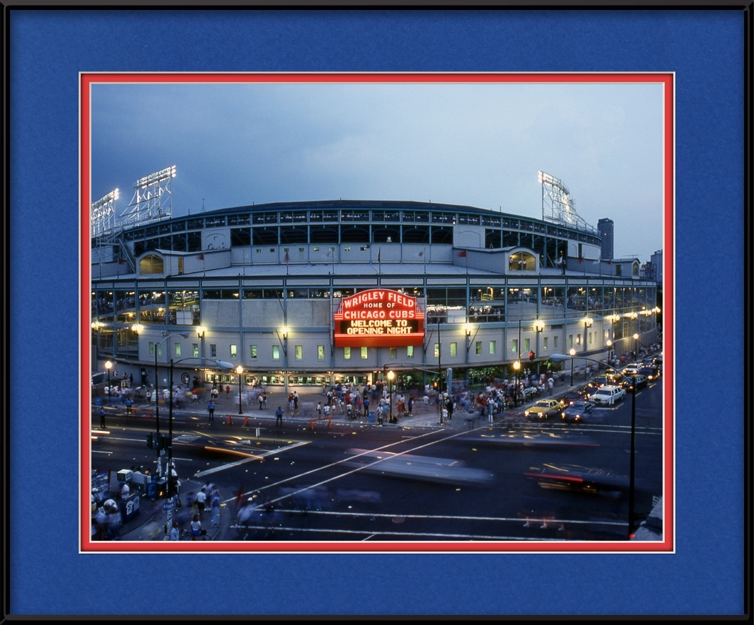 framed-print-of-cubs-first-night-game-8888-at-wrigley-field