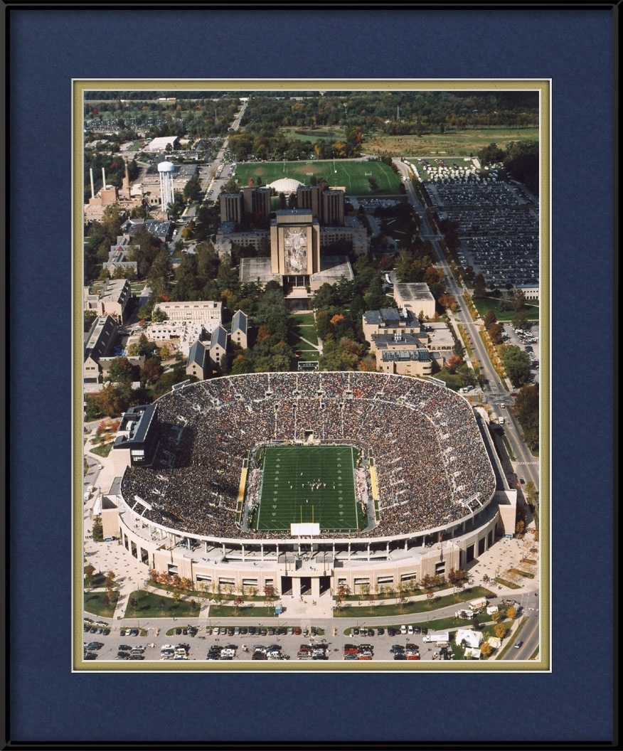 framed-picture-of-touchdown-jesus-aerial-of-notre-dame-stadium