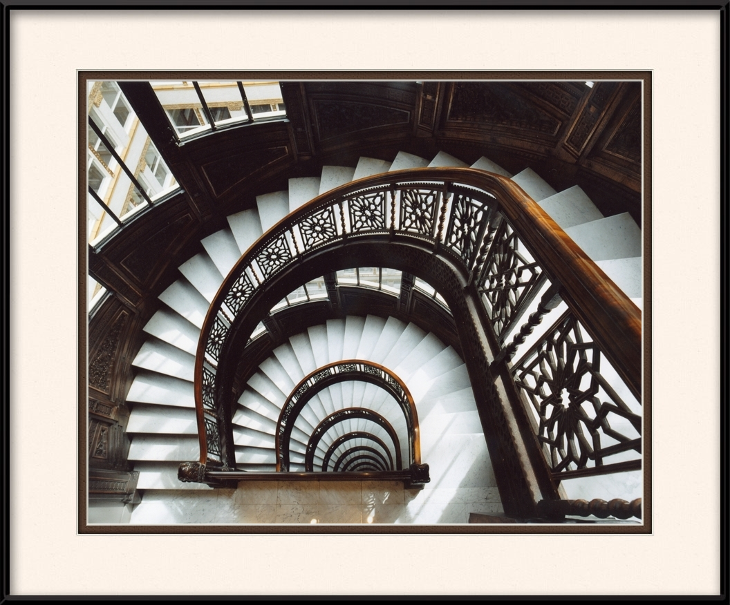 Framed Print Of The Rookery Building Staircase Chicago