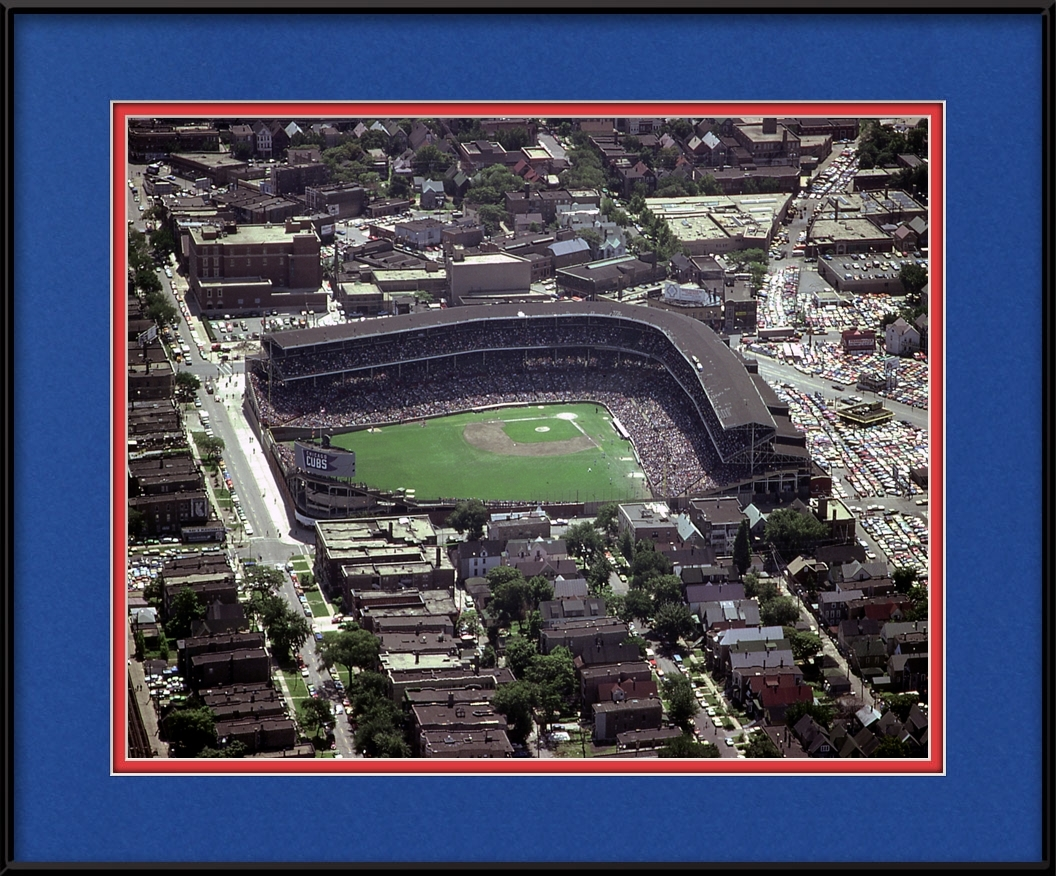 Wrigley Field Aerial - 1980\'S | Chicago Cubs Framed Print