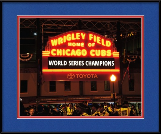 Wrigley Field Marquee - World Series Champions | Chicago Cubs Framed ...