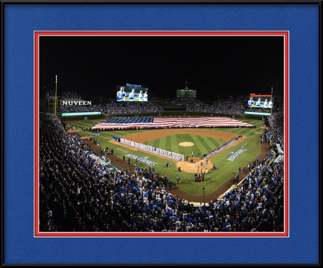 framed-print-of-cubs-world-series-game-3-national-anthem-usa-flag