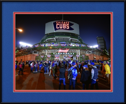 Cubs Blue & Red Everywhere - Behind Wrigley Field Bleachers At 2016 ...