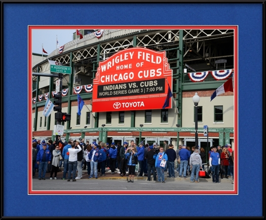 2016 Cubs World Series Wrigley Sign On Addison | Chicago Cubs Framed ...