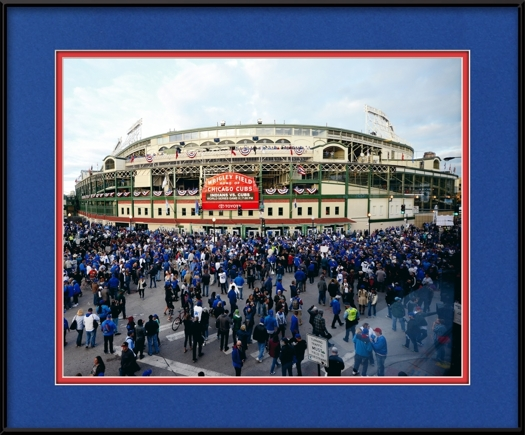 Chicago Cubs Stadium - Outside Wrigley Field For World Series ...
