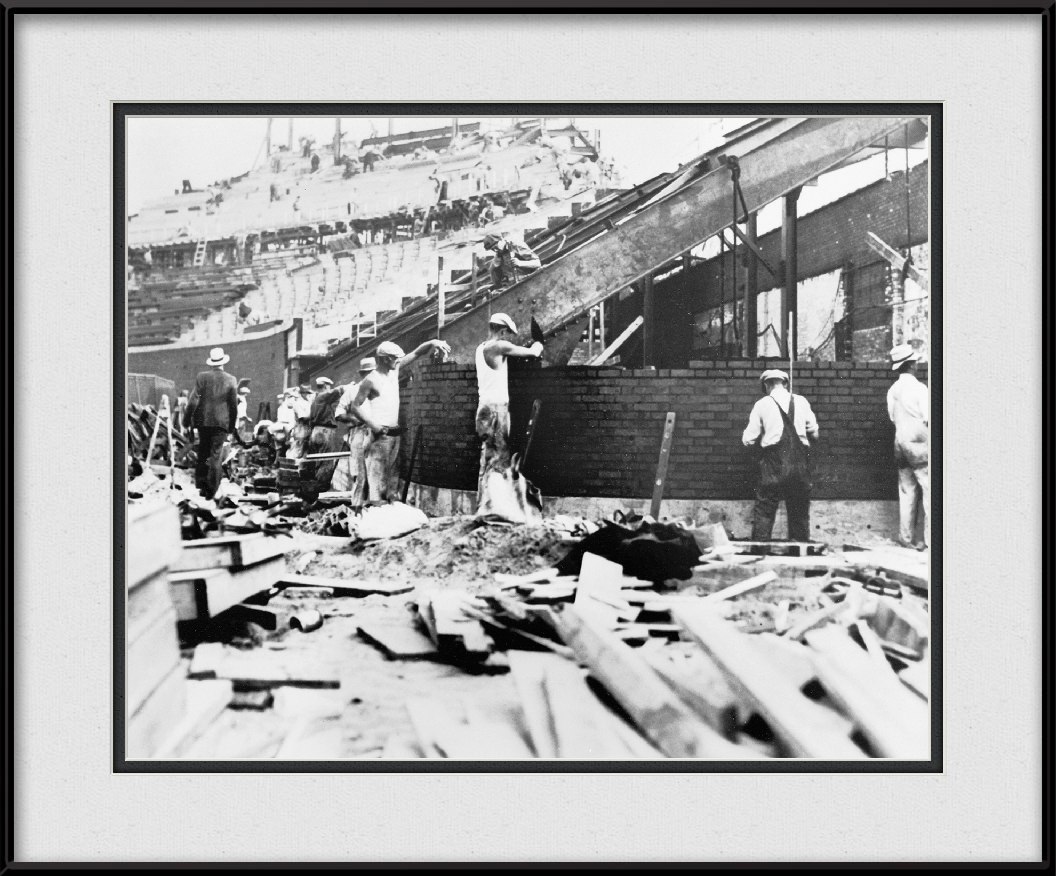 Bricklayers Building Wrigley Field Bleachers | Chicago History ...