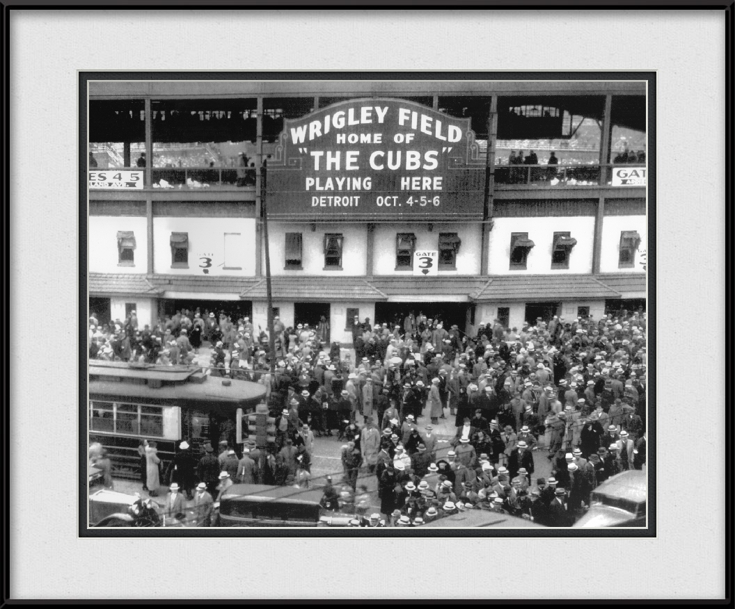 framed-print-of-cubs-world-series-1935-vintage-wrigley-field-marquee
