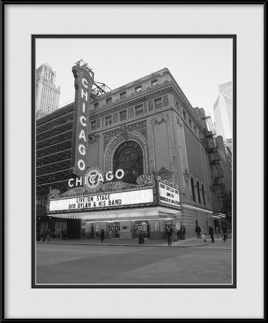 framed-print-of-bob-dylan-artwork-live-at-chicago-theatre