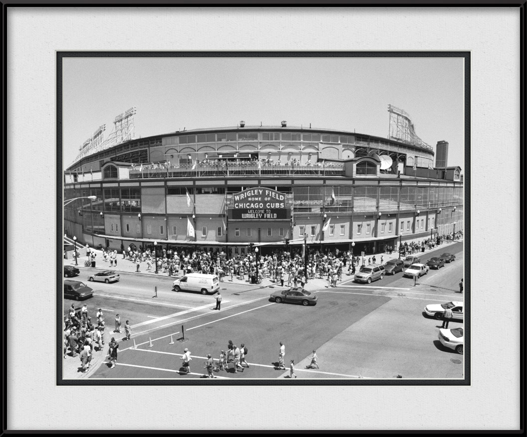 Wrigley Field Sign - Chicago Cubs Stadium | Chicago Cubs Framed Print