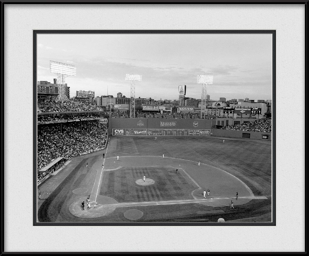 Black White Fenway Park Red Sox Mlb Stadiums Framed Print