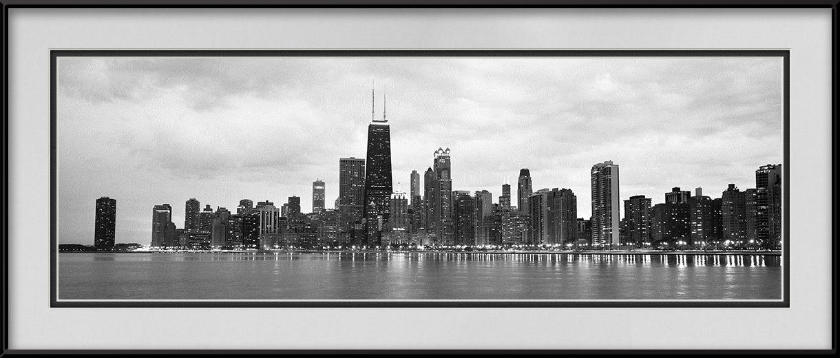 North Avenue Beach Black Amp White Chicago Skyline