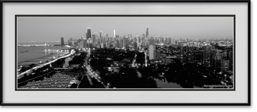 Chicago Skyline Panorama From Lincoln Park Chicago
