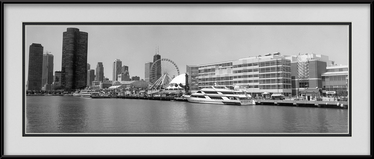 Navy pier ferris wheel panorama chicago lakefront for 18x40 frame