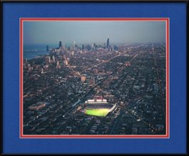 framed-picture-of-wrigley-field-chicago-at-night