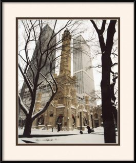 water-tower-during-winter-season-framed-picture
