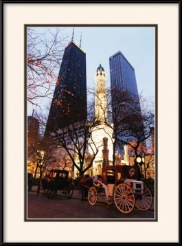 chicago-water-tower-holiday-lights-framed-picture