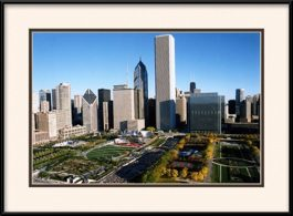 aerial-of-lasalle-bank-marathon-framed-picture